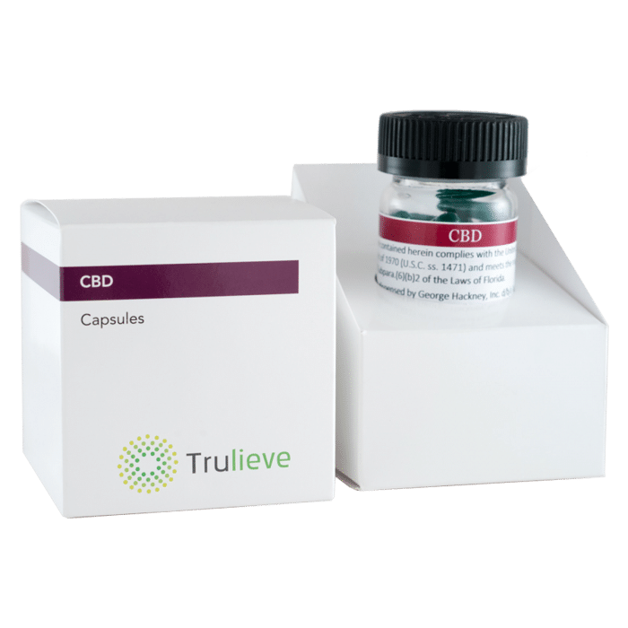 Trulieve Capsule Bottle 25ct CBD 10mg