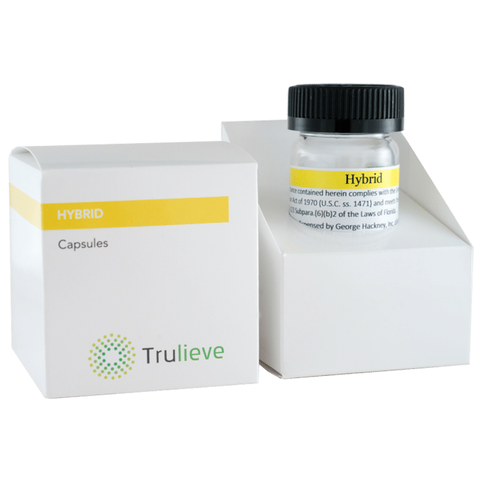 Trulieve Capsule Bottle 25ct Hybrid 10mg